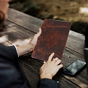 Embossed Heart Cover Design Leather Journal Diary Notebook for Men Women Unlined Travel Personal