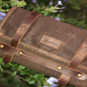 handmade leather canvas travel accessories toiletry shaving cosmetics dopp kit bag hanging unisex