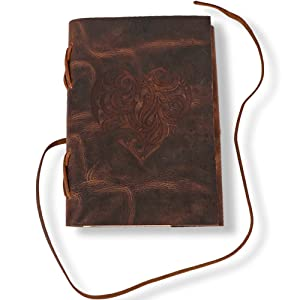 Antique Handmade Leather Journal Bound Daily Unlined Paper Gift Art Sketchbook Travel Diary Write