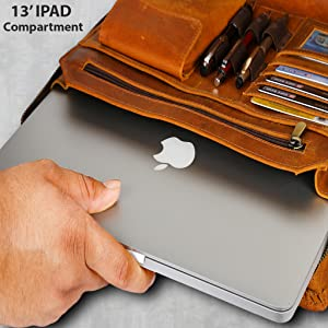 portfolio padfolio folder leather zippered organizer men women notebook bag resume portfolios file