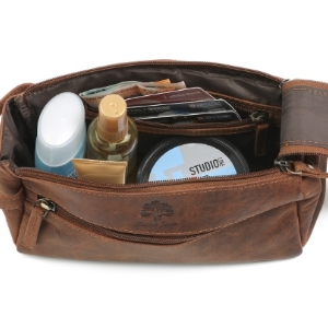 toiletry travel leather bags women cosmetic hanging dopp kit mens dopp bathroom organizer gift