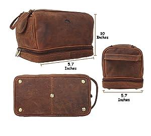 Amazoncom Handmade Buffalo Genuine Leather Toiletry Bag Dopp - Travel bag for bathroom items for bathroom decor ideas