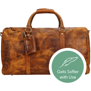bag leather women men duffel travel weekender sports luggage airplanes  carry-on gym heavy weekend 55ac255cec840