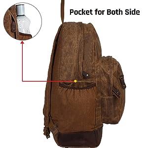 handmade canvas backpack hiking travel bag shoulder school college