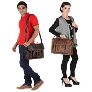 genuine Leather Satchel Shoulder Bag Waterproof Leather crossbody Laptop Messenger Bag