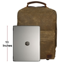 Waxed Trolley Canvas Laptop Backpack