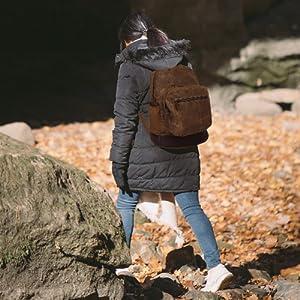Vintage Canvas Leather Travel Backpack Trim Casual Bookbag Men Women Laptop Travel Rucksack