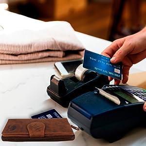 Women RFID Blocking Luxury Genuine Leather Clutch Wallet Card Holder Organizer Ladies Purse