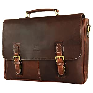 handcrafted genuine leather satchel messenger bag carry on travel shoulder bag briefcase men women