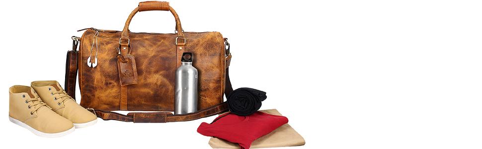 bags leather women men duffel travel weekender sports luggage airplanes  carry on gym heavy weekender 41b2457941
