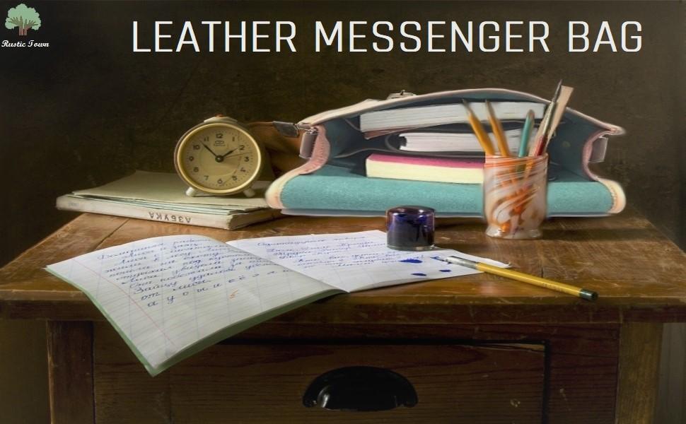 Vintage Sturdy Buffalo Leather Unisex Shoulder Bag Ipad Messenger Satchel Crossbody school travel