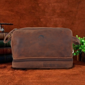 genuine leather toiletry dopp kit bag travel toiletry accessories packing organizer