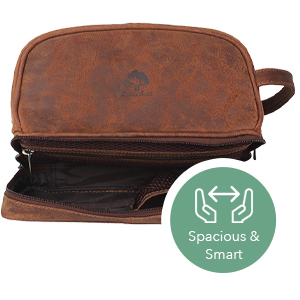 521d229047 Toiletry Bag Travel Toiletries Organizer Leather Cosmetic Shaving Grooming Dopp  Kit Portable gift
