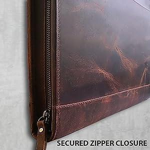 Strong Zippered Padfolio Portfolio Interview Resume Document Organizer Internal Holders iPad Tablet