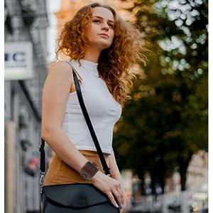 Punk Gothic Men women gift brown jewelry Genuine Leather Wristband Cuff Bangle Bracelet