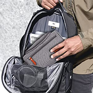 Hanging Toiletry Bag Designer Travel Organizer Makeup Men Women Cosmetics Accessories Metal Hook