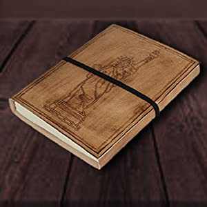 Writing Notebook Antique Leather Daily Notepad Men Women Unlined Paper Sketchbook Travel Diary