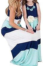 281a8c6d9bf Amazon.com  MLDYGYC Mommy and Me Boho Summer Cute Striped Long Beach ...