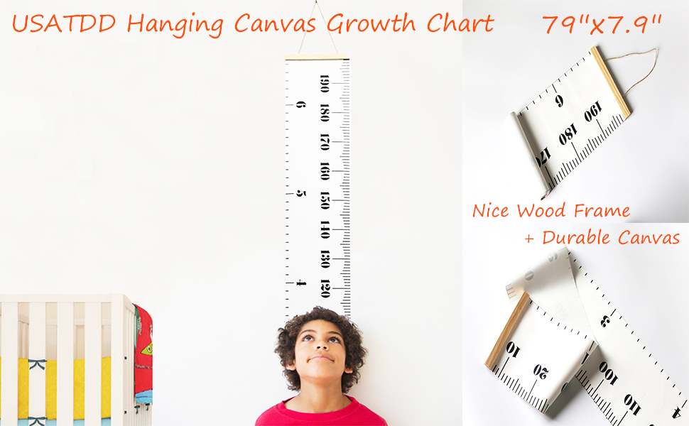 Height Growth Chart For Kids Portable Foldable Writable Hanging