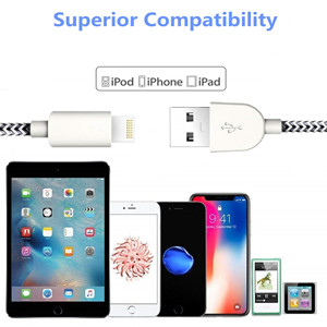 Wide Compatibility by iPhone Lightning Cable Cord