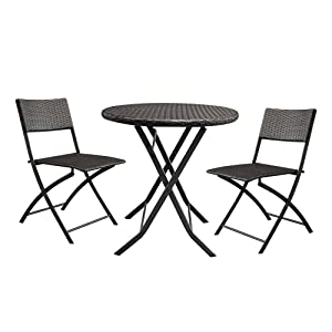 Amazon.com: Lovinland Muebles de patio de ratán muebles de ...