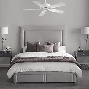 "Minka-Aire, F572-WH, Sundance, White, Bedroom Ceiling Fan, Living Room Fan, 42"""