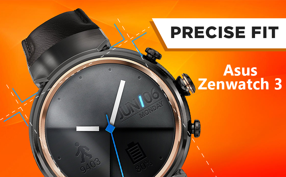 Skinomi Screen Protector Compatible with Asus ZenWatch 3 (6-Pack) Clear TechSkin TPU Anti-Bubble HD Film