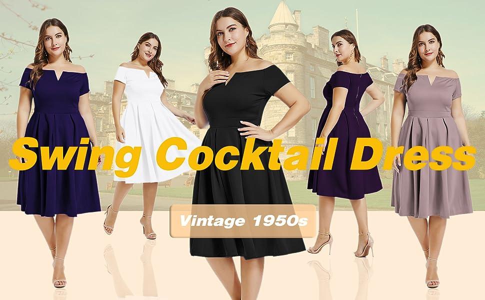 Cocktail Evening Dresses circa 1950