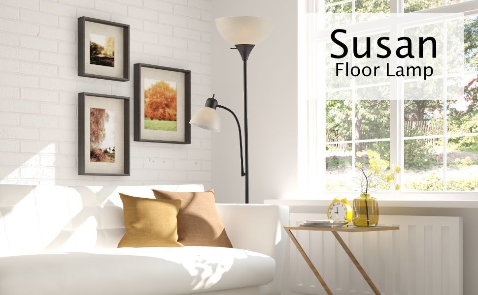 Light Accents SUSAN Floor Lamp With Side Reading Light