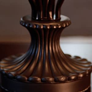 Light Accents Table Lamp 18 5 Inches Height Traditional Iron Scrollwork Table Lamp Bronze