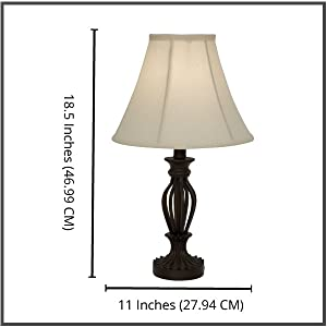 Light accents table lamp 185 inches height traditional iron this lamp is part of a family aloadofball Choice Image