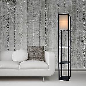 corner shelf lamp floor lamp with shelf floor lamp storage tall lamp with shelves asian style lamp