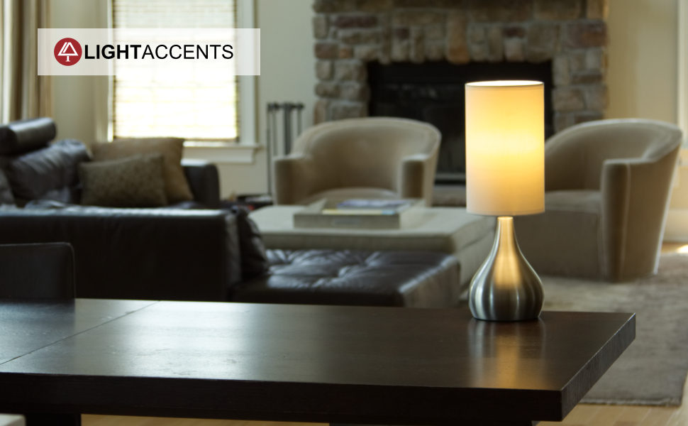 Light accents touch table lamp modern 18 tall with 3 stage touch touch table lamp with 3 stage dimmer aloadofball Images