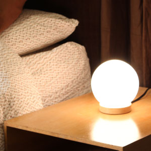 Designed For Use With One 40 Watt Bulb Or A Long Lasting And Energy  Efficient LED Equivalent, This Small Round Table Lamp Measures Just 5.91  Inches Wide And ...