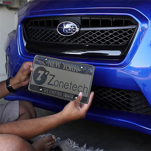 Zone Tech Clear Smoked License Plate Shield Combo Premium Quality Novelty//License Plate Clear Smoked and Black Bubble Shield and Frame
