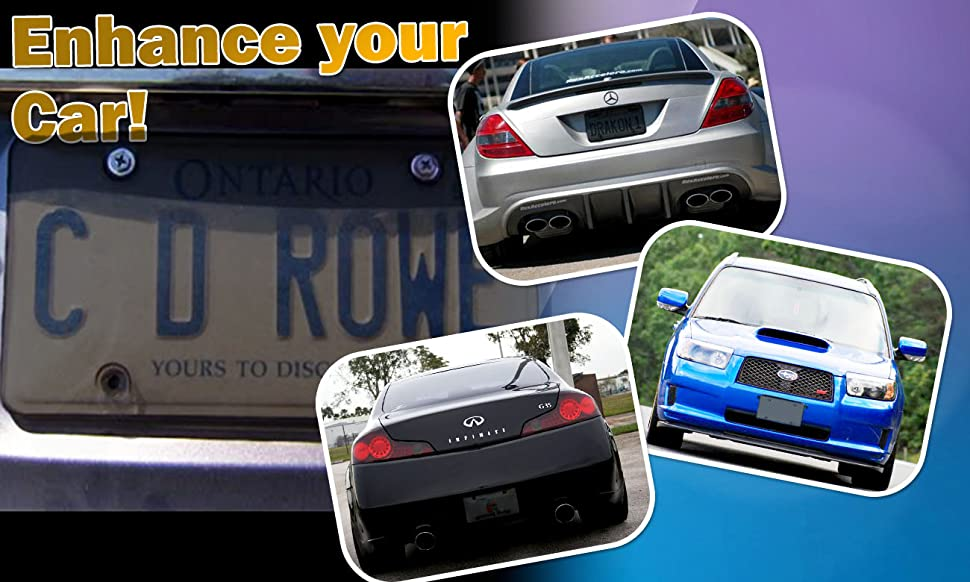 Amazon.com: Zone Tech Clear Smoked License Plate Cover Frame ...