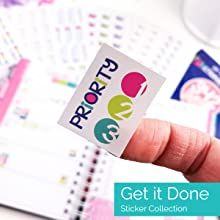 Get it Done Planner Stickers Variety Set for Productivity, Goal Setting, Priority, Checklist, To Do