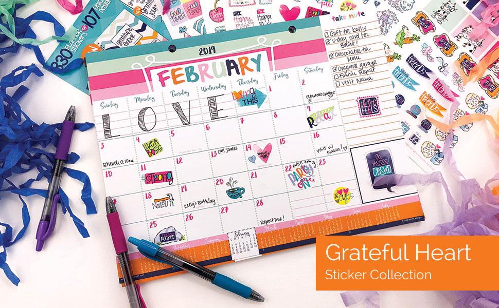 Amazon.com: 2019-2020 - Calendario mensual de escritorio (18 ...
