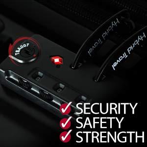 HyBrid & Company Luggage Set Durable Lightweight Spinner
