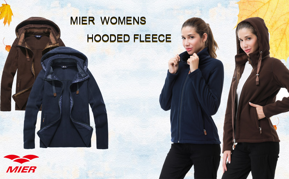 MIER Women's Full-Zip Fleece Jacket