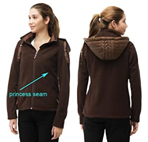MIER Women's Fleece Jacket Full Zip Hoodie