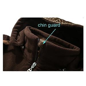 Fleece Jacket Chin Guard