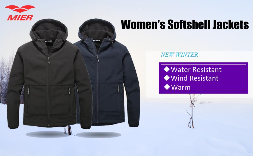 Amazon.com: MIER para mujer (tejido Softshell chaquetas con ...