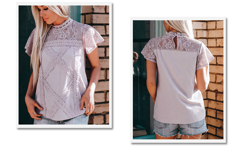 Womens Summer Lace Tops