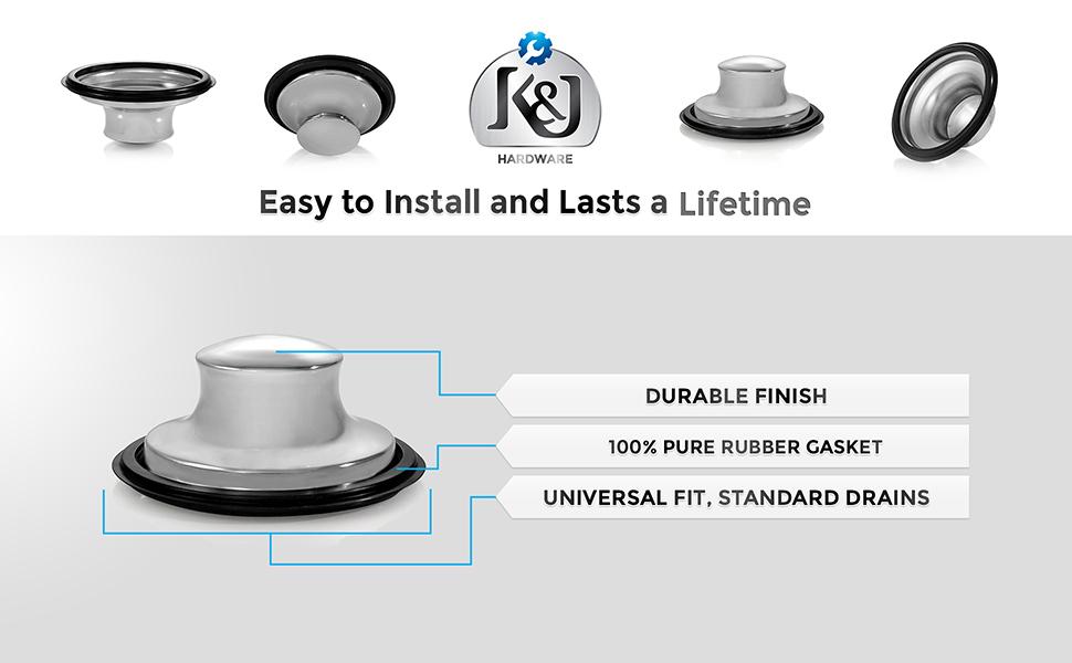 K&J kitchen sink drain plug