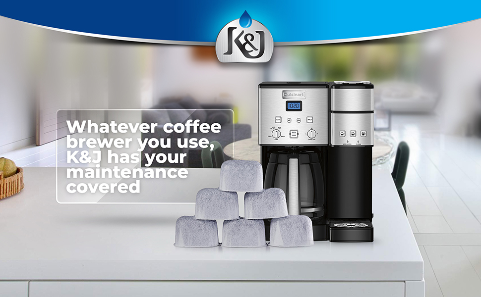 Coffee Maker 12-Pack K/&J Replacement Water Filters For Coffee Makers Dcc-Rwf K/&J
