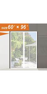 White Screen Door  Curtain 60x96 inch