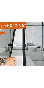 Grey Magnetic Door Screen  60x96 inch