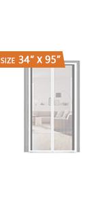 EVA Magnetic French Door Screen 34x95 inch
