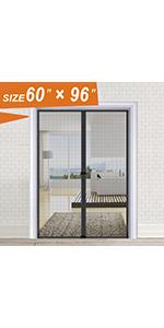 Black Screen Door 60x96 inch